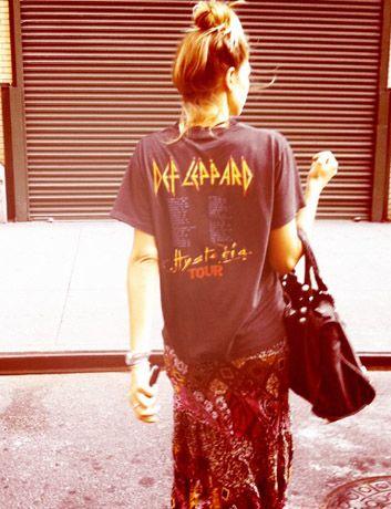 JESSICA.HART/BLOGFloral Maxi, Def Leppard, Fashion, Band Shirts, Vintage Tees, Vintage Floral, Band Tees, T Shirts, Maxis Skirts