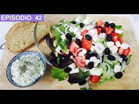 Ensalada griega con salsa Tzatziki - Receta original - YouTube