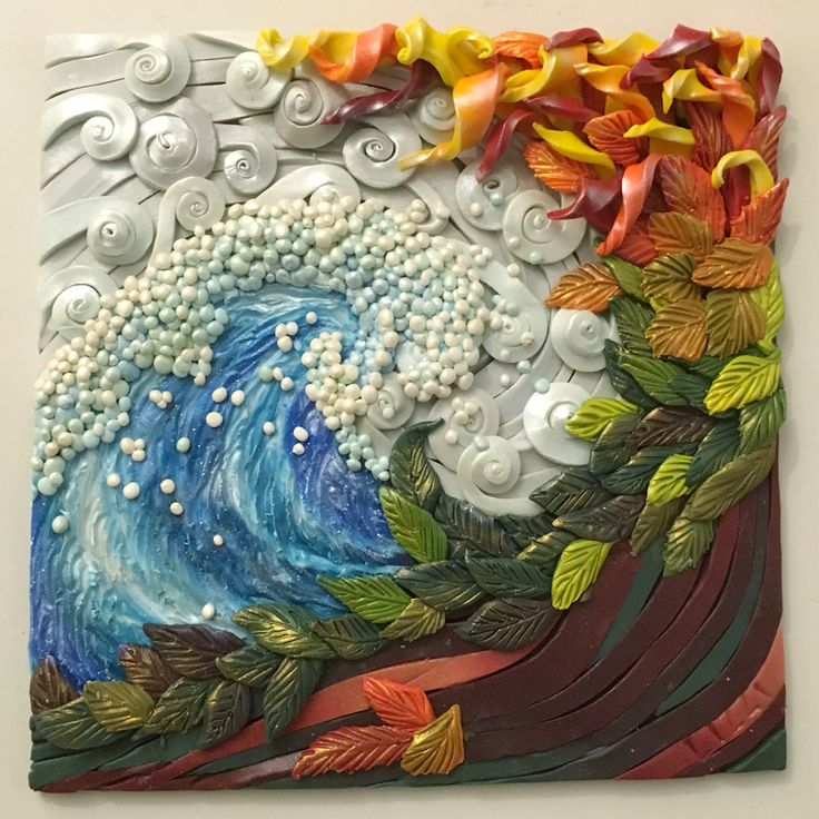FIMO 50 WORLD PROJECT TILE Four Elements tile by Lizzi of Bizzi Zizzi @staedtlermars #mystaedtler #fimo50 #fimo #polymerclay