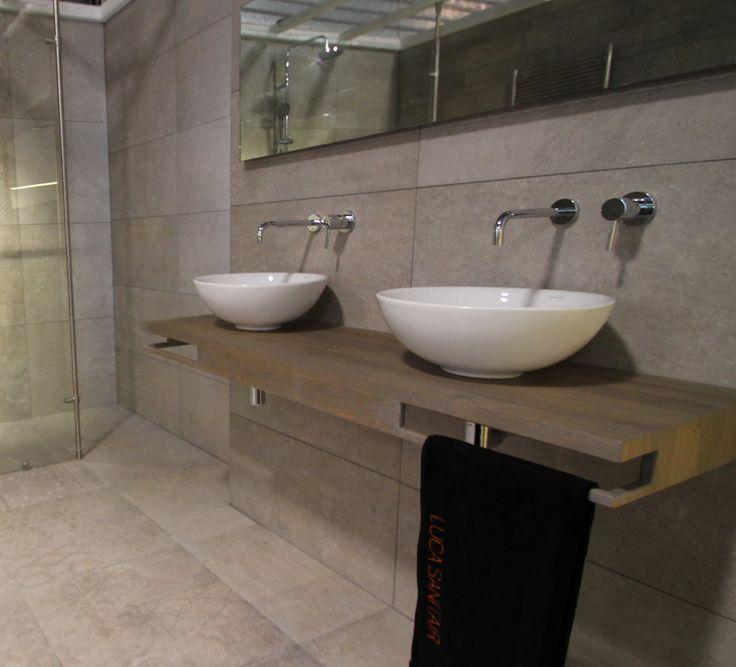 Moderne keramische opzet wastafels