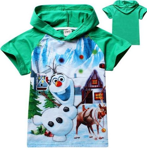Green Olaf Hoodie. Sizes 18-24months, 5-6yrs and 6-7yrs. NOW JUST $12