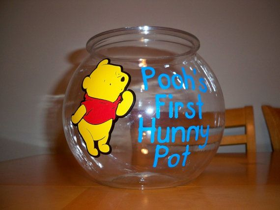WINNIE THE POOH birthday party favor bowl 1 by BeyondBalloons, $18.00