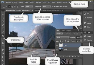 Photoshop: Elementos de la interfaz de Photoshop