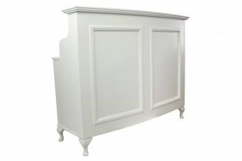 French Style Shabby Chic Reception Desk / Retail Cash Desk with moulded panel front in Raw MDF ready to paint .