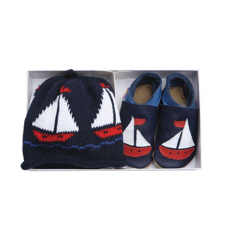 Set cadou Sailboat Navy