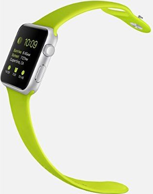 Apple Watch Sport 38mm Aluminum Case with Green Sport Band