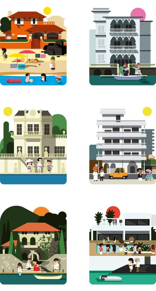 Editorial Illustrations by Hey Studio Barcelona for Monocle magazine