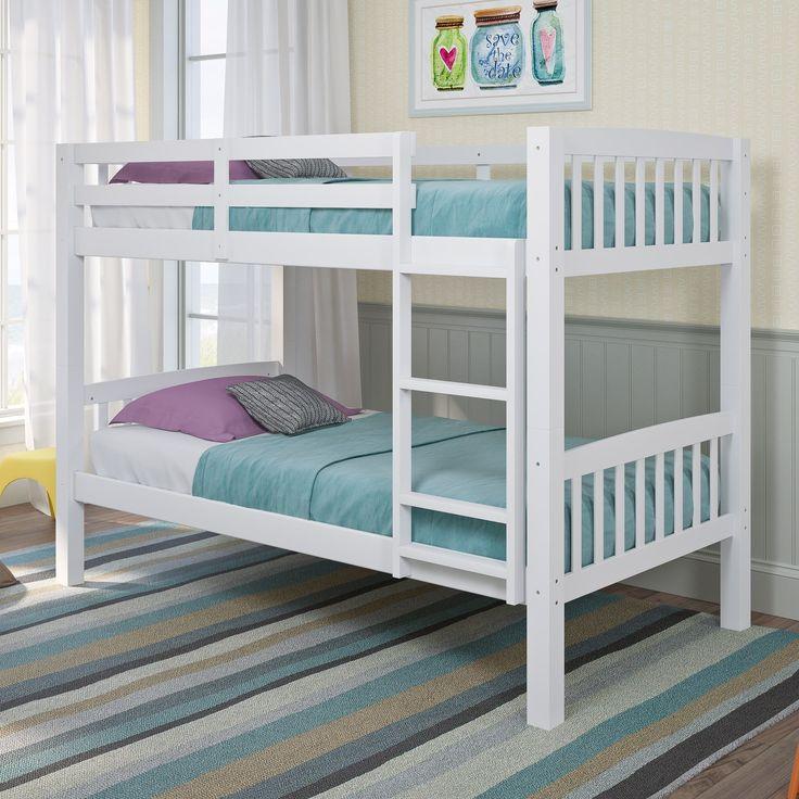 CorLiving Dakota Twin/Single Bunk Bed (White - Painted/White Finish)