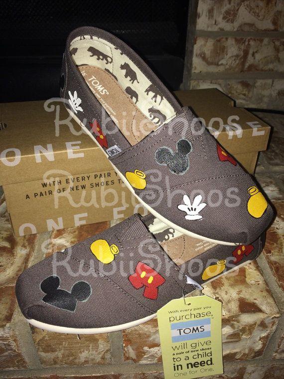 Disney inspired Mickey Mouse Head Gloves Ears Shoe by RubiiShoos