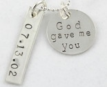 Cute wedding promise necklace/dog tag for $35