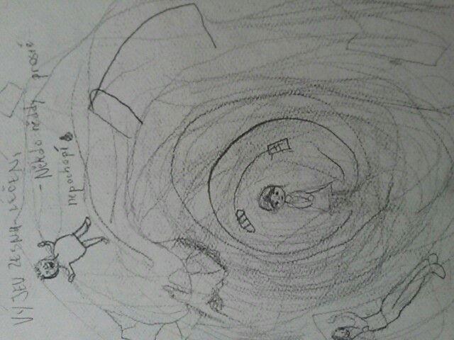 Naprosto divný a stresující obrázek kreslný ve stresu