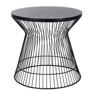 Wire Hourglass Side Table in Black - Casafina