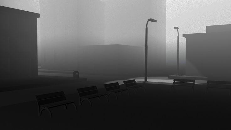 Maya 2016 tutorial : Create street fog in 1 minute