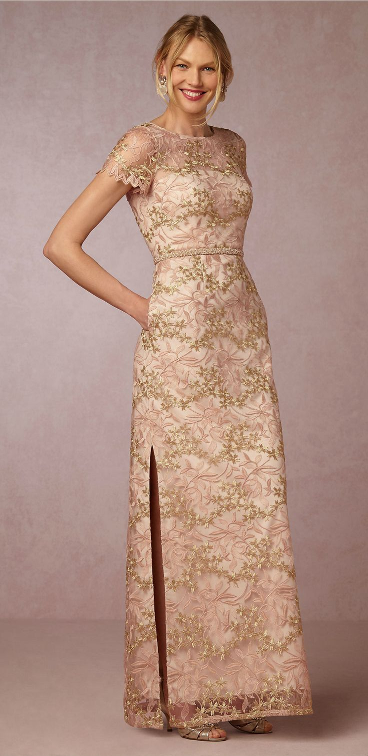 prettiest dress for the mother of the bride blush and gold mother