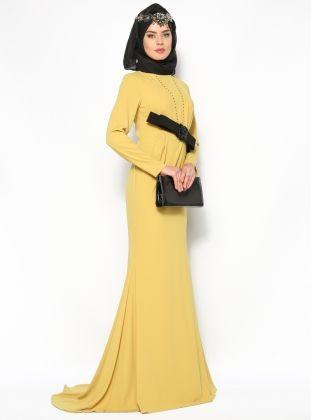 Evening Dress - Yellow - Favore