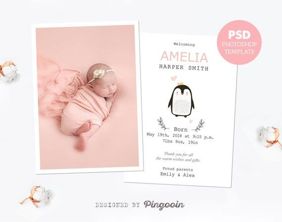 Pin On Birth Announcements