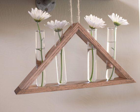 Rustic Hanging Laboratory Bud Vase Triangle Vase Test