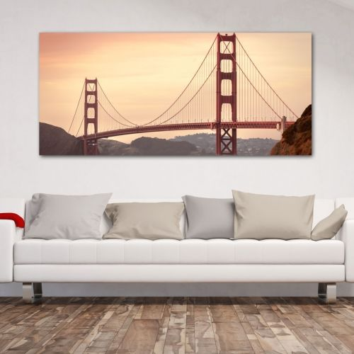 Golden gate bridge πανοραμικος πίνακας σε καμβά