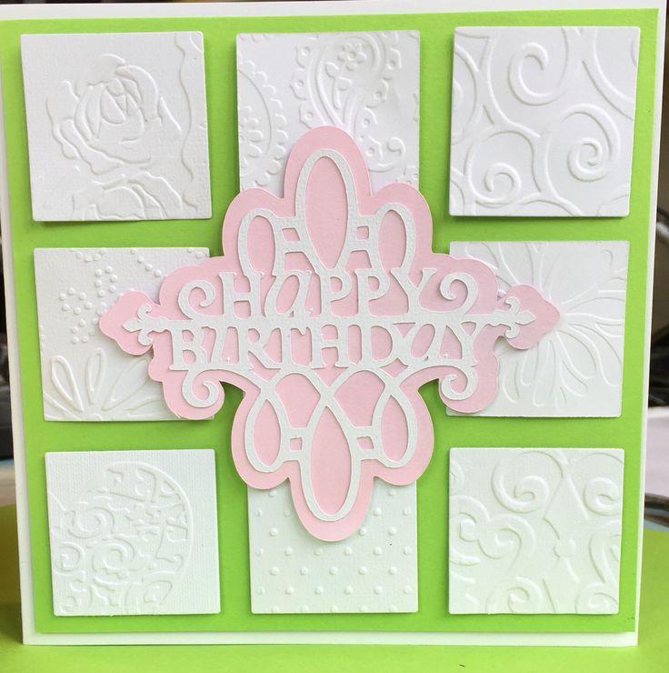 Birthday card using embossing folders