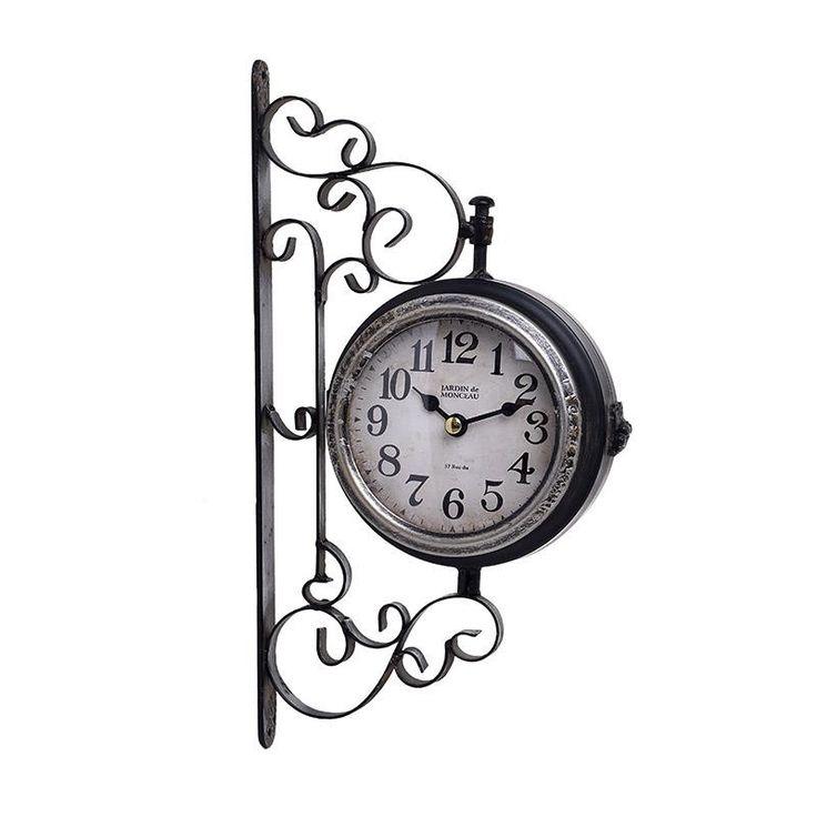 Ρολόι Σταθμού Μεταλλικό 2 Όψεων INART