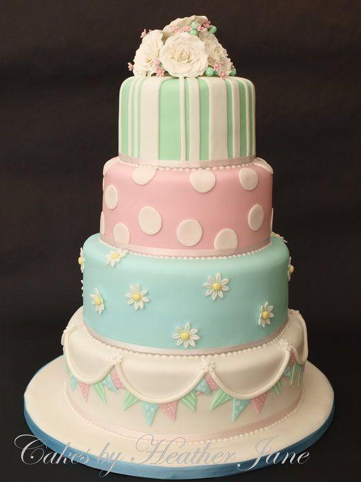 Beautiful Bunting cake