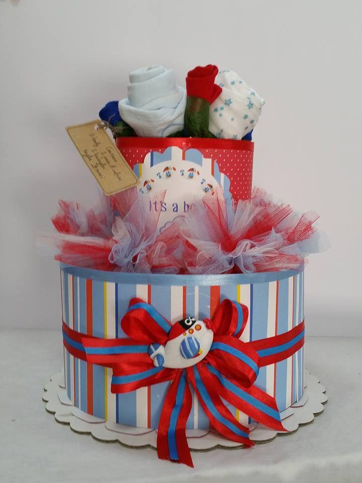 torta di pannolini diapers cake tema areoplanino