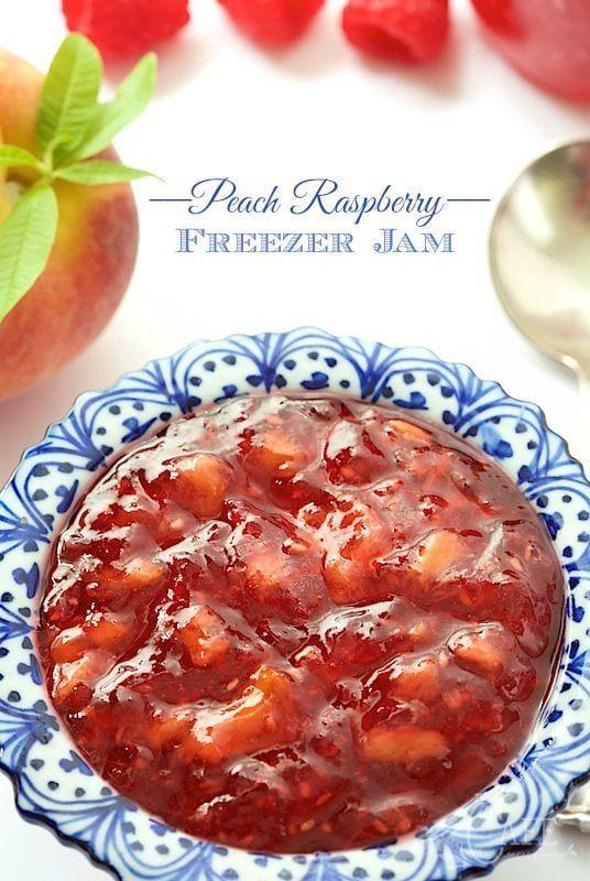 Peach Raspberry Freezer Jam