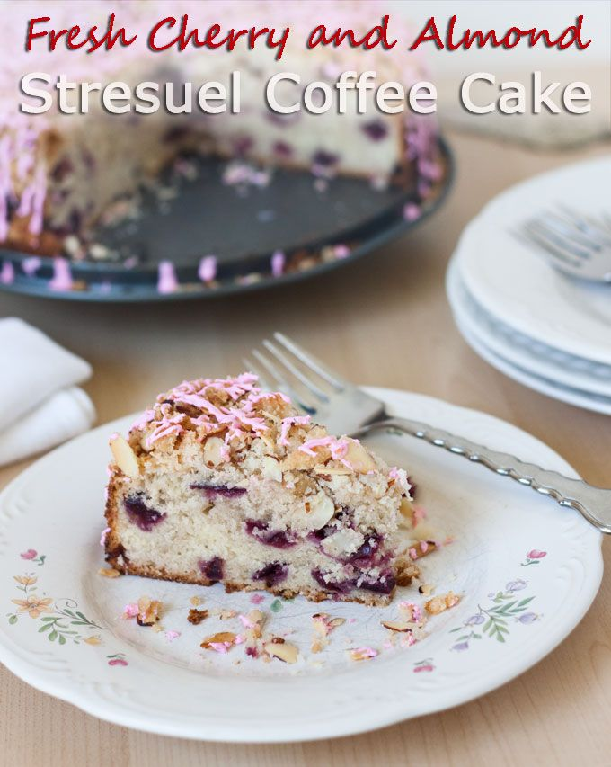 Cherry And Coconut Coffee Cake Recipe — Dishmaps