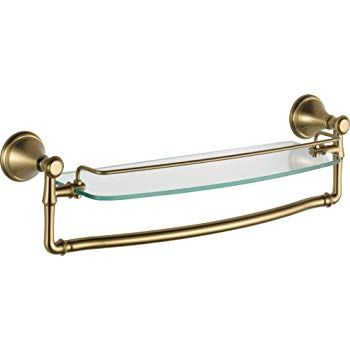 $60 Delta Faucet 79710-CZ Cassidy 18-Inch Glass Shelf with Bar