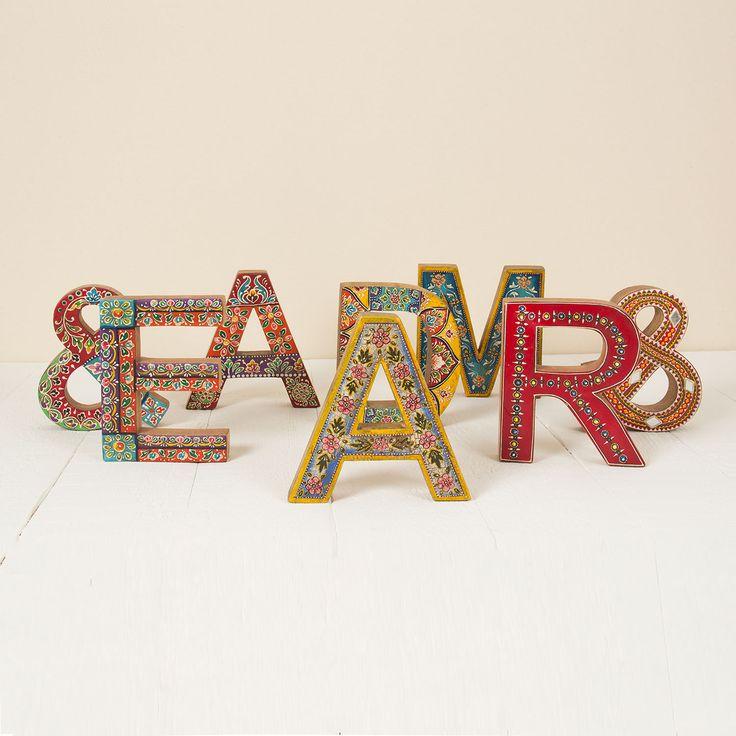 M s de 25 ideas incre bles sobre letras de madera pintadas - Casa letras madera ...