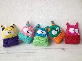 Troetels en zo: monstervriendje, #haken, gratis patroon, Nederlands, amigurumi, knuffel, monster, speelgoed, #haakpatroon