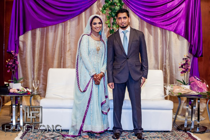 Pakistani couple at engagement ceremony - Zyka Indian ...