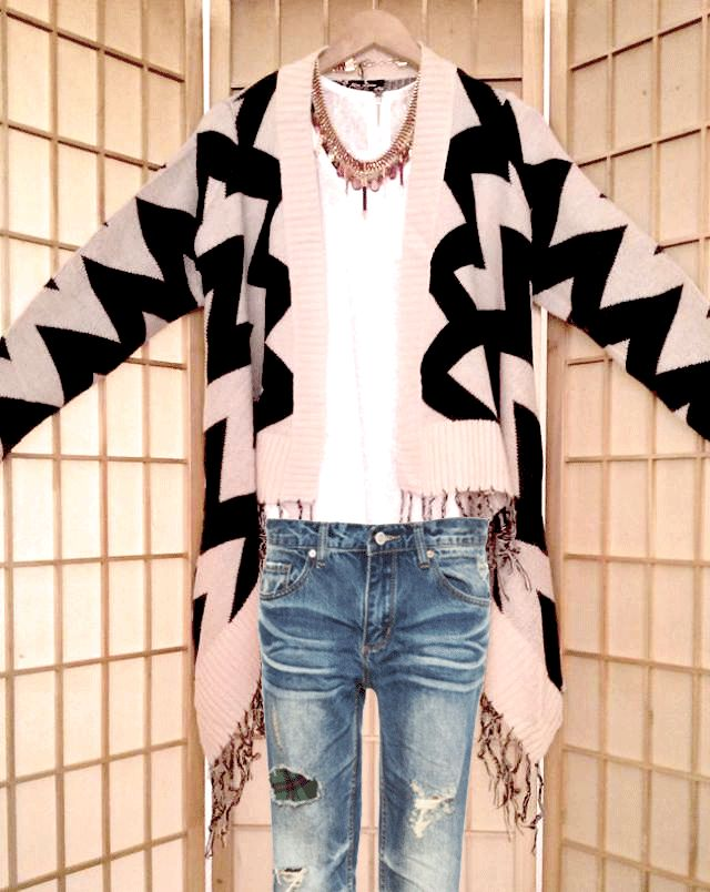 aztec cardigan with crosses  www.hipandspoiled.com