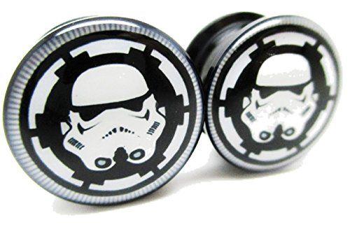 Star Wars Storm Trooper Badge Screw-on Ear Plugs - Acrylic - NewPair 8 Sizes //Price: $14.99 & FREE Shipping //     #starwarsfan