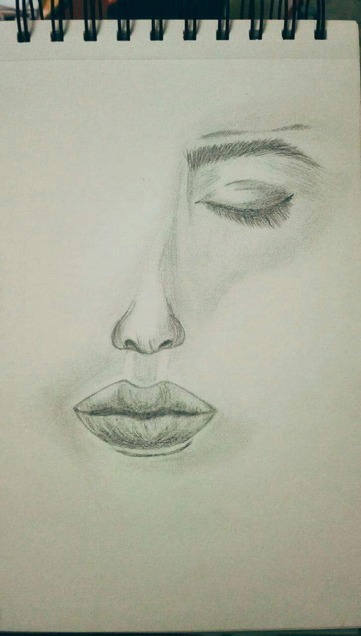 Half girl, art pencil