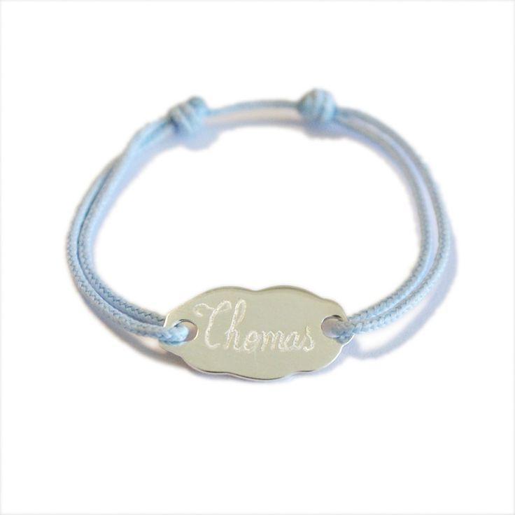 Le bracelet petit nuage en argent pour les filles ou les garçons.