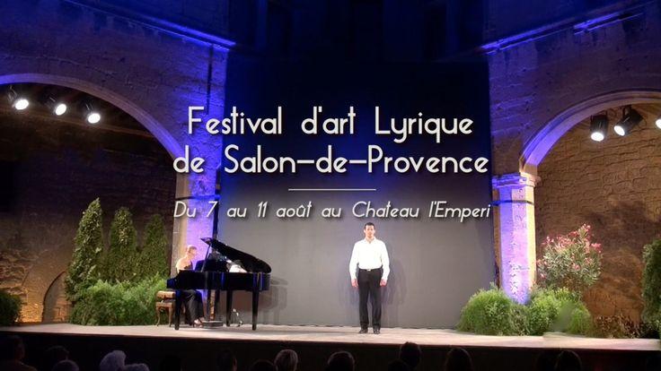 Du 7 au 11 août aura lieu le Festival d'Art Lyrique de Salon-de-Provence dans la cour Renaissance du château l'Emperi.  Le festival lyrique de Salon de Provence, présidé par le très grand baryton Alai