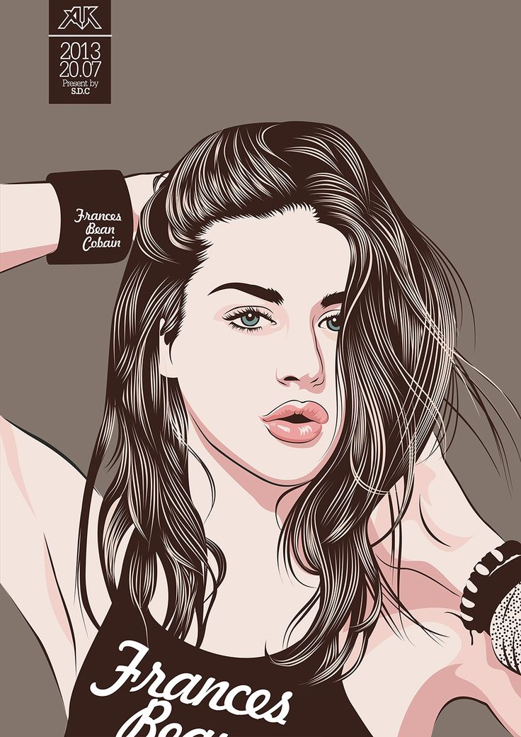 ‪#‎vector‬ ‪#‎DigitalArt‬ ‪#‎LineArt‬ ‪#‎CorelDraw‬ ‪#‎AdobeIlustrator‬ ‪#‎Photoshop‬ ‪#‎drawing‬ ‪#‎colour‬ ‪#‎FrancesBeanCobain‬ ‪#‎AljukArt‬