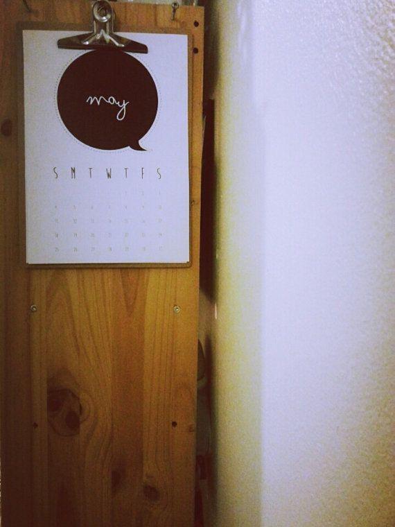 Calendar Wall Desk Wooden Clip Board www.vivianyeung.com