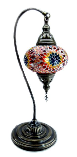 Glass Mosaic Destop Lamp - beautiful on a desk...