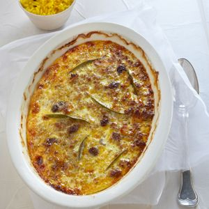 Bobotie - kind of a meaty pie - this dish had its origin with the slaves that were brought from the east to work in the Dutch colony at the southern tip of Africa in the late 1600s and early 1700s