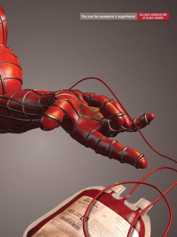 superhero blood 620x826 80 Ultra Creative, Clever & Inspirational Ads