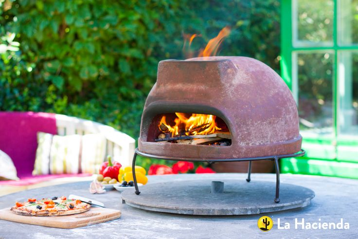 Morena #Mexican clay tabletop #pizza oven - perfect as a tabletop pizza oven and patio heater #food #outdoors #garden