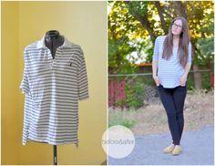 Transformez un polo d'homme en top féminin - retaillez un polo pour le transformer en blouse