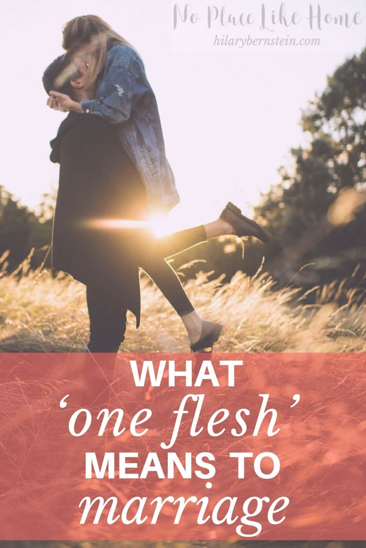One of the best things about marriage is living life as one flesh! #marriage