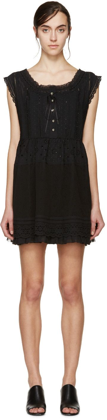 Marc by Marc Jacobs Black Broderie Anglaise Dress