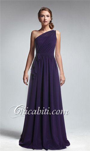 viola scuro abito da cerimonia lungo per la mamma o la testimone o le invitate