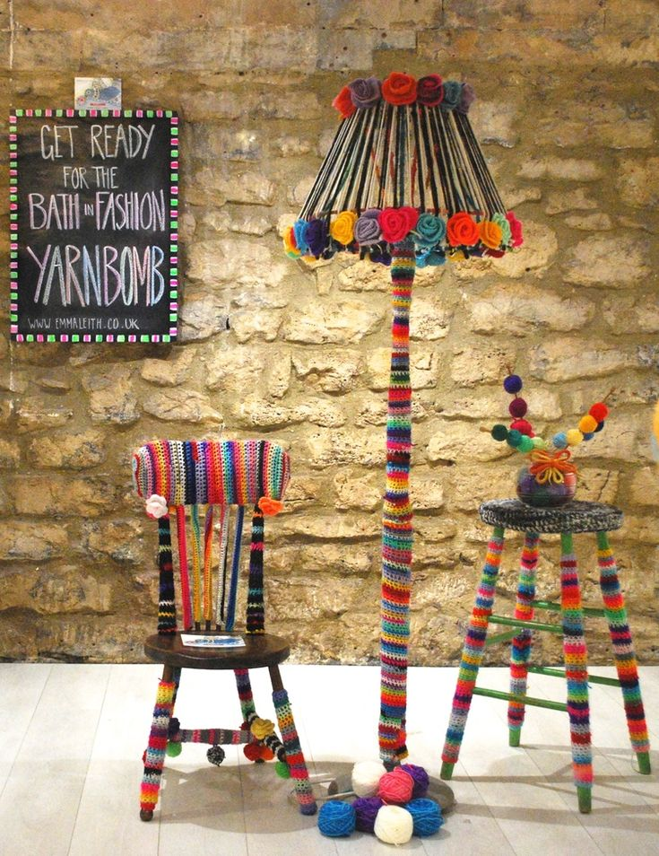 Yarn bomb for the home by Emma Leith