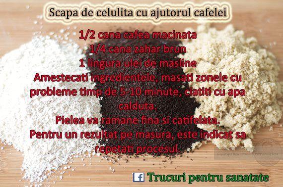 Scapa de celulita cu ajutorul cafelei Get rid of cellulite with coffee