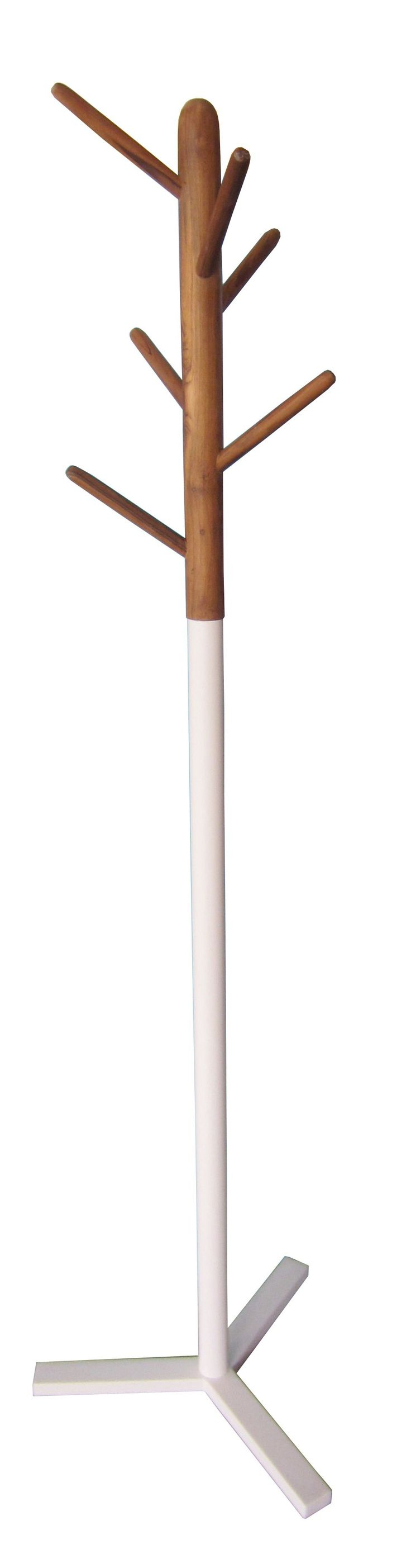Jeremy Scandinavian Hat Stand - Natural / White | $119.00